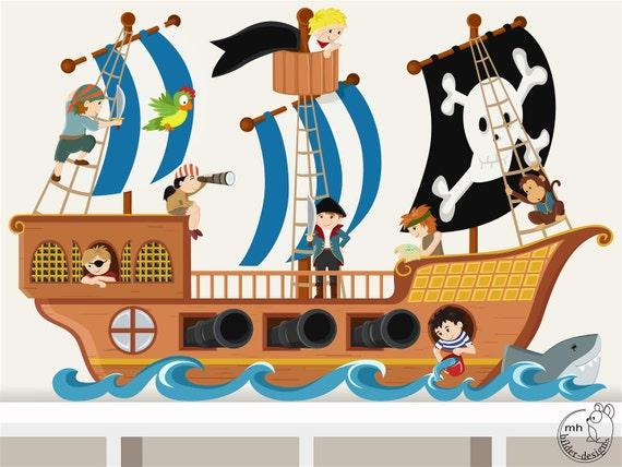 Wandtattoo Piratenschiff Piraten Piratenzimmer