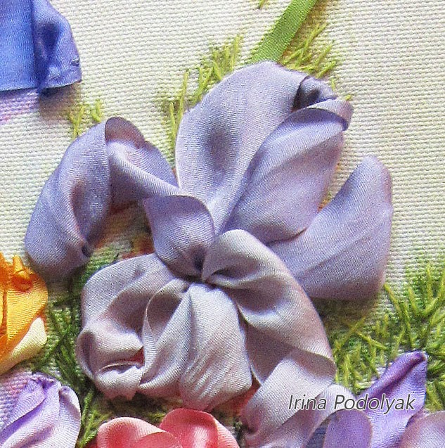 Silk Ribbon Embroidery Garden Flowers Full Kit From Silkribbonkits