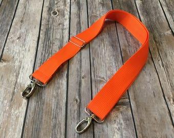 "27-49"" Adjustable Long Strap in Orange 1.5"" width"
