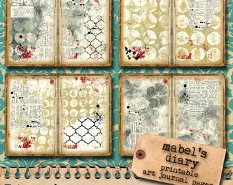 Printable Art Journal Pages