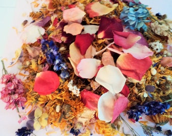 WILDFLOWER WEDDING Confetti, ecofriendly wedding, biodegradable confetti, Flower Petal Path, WildflowerFetti™, for fairy tale endings
