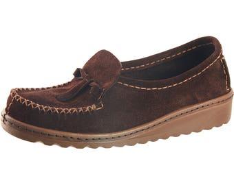 Leather Moccasin Ladies Leather Moccasin Moccasin Loafer  Slip On Moccasin