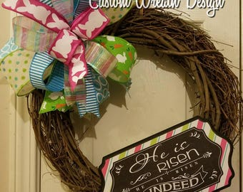 Easter Grapevine Wreath, Best Easter wreath, Easter decorations, door decor, Easter  decor