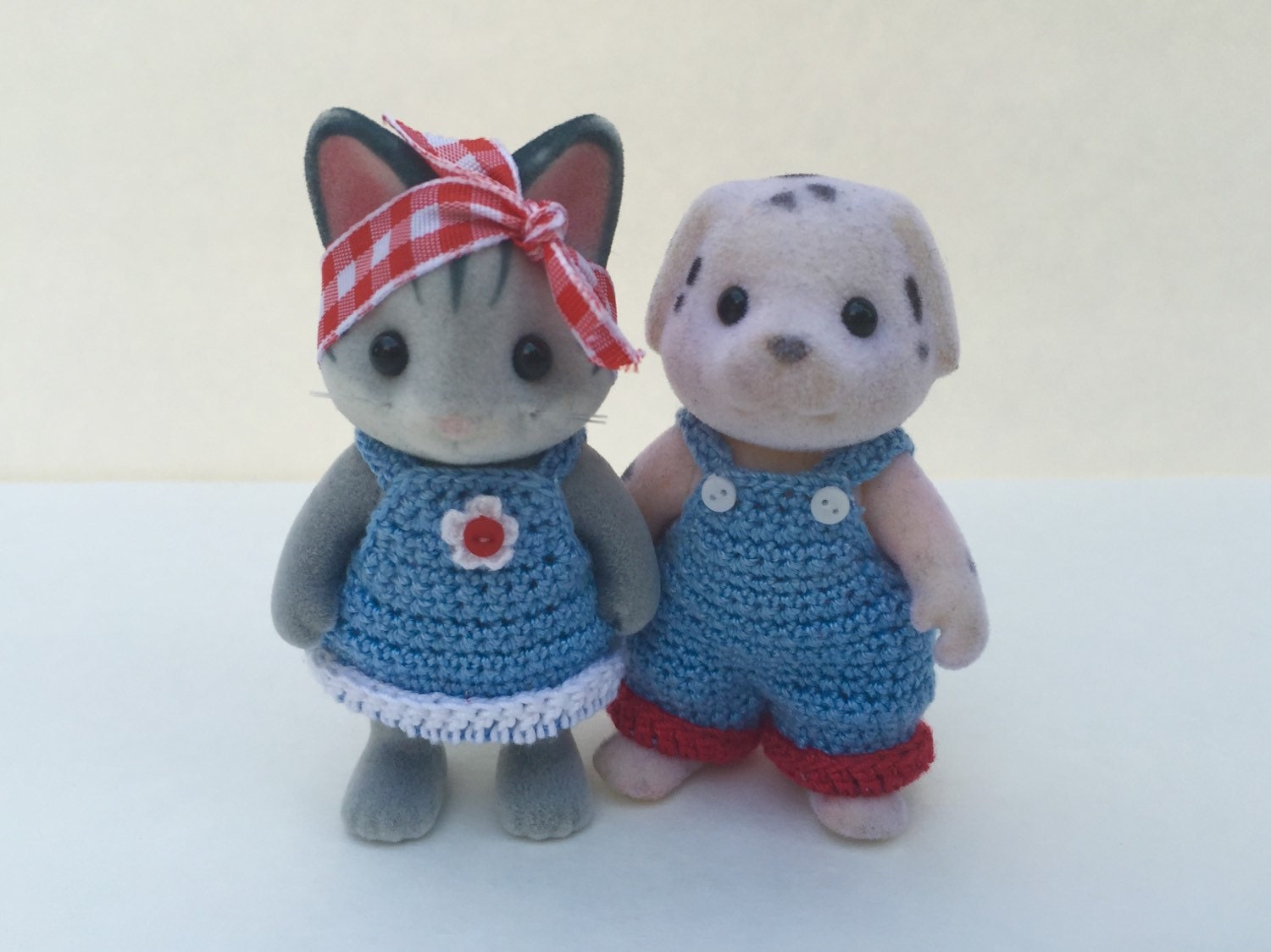 PDF Crochet Pattern for Calico Critter Daddy and Momma