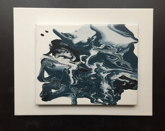 Deep Blue Abstract Painting