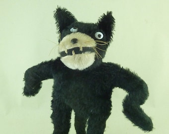Felix the Cat Stuffed Soft Toy Mohair Glass Eyes Wired Original Vintage