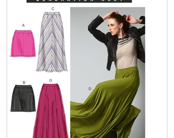 McCalls M6608 Size 4-12 or 12-20 Misses Mini or Maxi Skirts Sewing Pattern / Uncut/FF