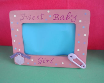 Sweet Baby Girl Picture Frame