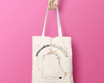 Tote Bag in organic cotton cat-Horn