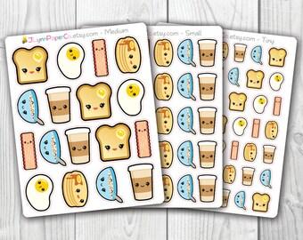 Kawaii Breakfast Stickers AV008