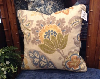 Gorgeous Custom Decorative Designer Pillows with Floral Print - Each Sold Separately