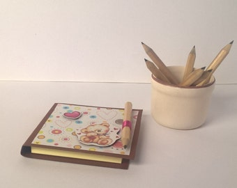 "Sticky notes booklet ""Heart bear"""