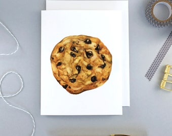 Chocolate chip Cookie Greeting Card | Birthday card | Dessert | Food | Pastry | Bakery | Watercolor painting | Blank Card | Josianne Dufour