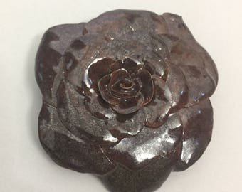 Metallic Burgundy Rose 2