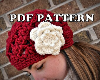 PDF PATTERN - Chunky Swirled Beret