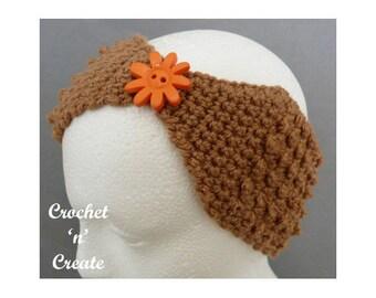 Crochet Ladies Headband Crochet Pattern (DOWNLOAD) CNC82