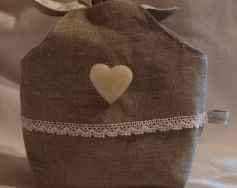 KNOTTED LINEN BASKET
