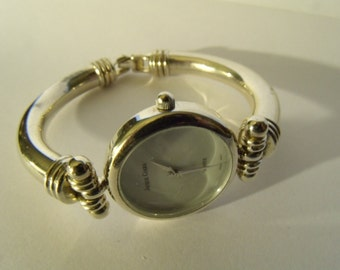 Ladies Watch Bangle Silverplated Bracelet