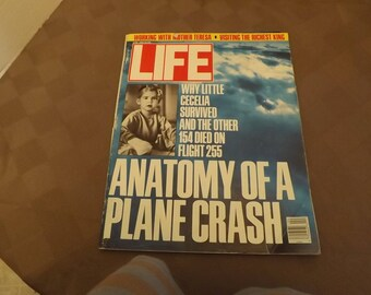 Life Magazine -Anatomy Of A Plane Crash - April 1988- Free Shipping US/Can