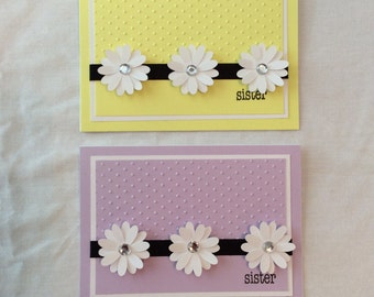 Sister Card/ Sister Mother's Day Card/ Sister Mother's Day/ Purple/ Yellow/ Daisies