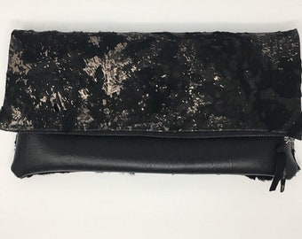 Calf Hair Medium Clutch