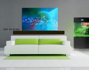 Harmony - Original - Abstract painting  ( 36'' x 24''  x1.5'' deep) 0r (18'' x 48''  x1.5'' deep) DanielBrunosArts