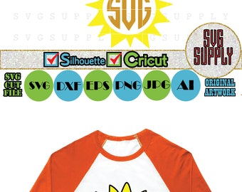 Sun SVG, Sun Monogram cut file vinyl decal for silhouette cameo cricut iron on transfer on mug shirt fabric design for kids