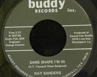 Ray Sanders Same Shape I'm In / Johnny's Name 45 RPM Buddy Records 15272