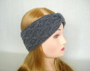 Winter headband Knit headband Knit ear warmer Knit head wrap Womens head band Knit turban headband Cashmere Cable Knit headband ear warmer