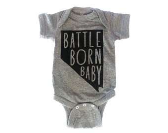 Battle Born Baby Nevada bodysuit onesie Size 6m 12m 18m
