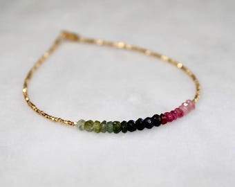 Spiritual Watermelon Tourmaline Bracelet With Meaning | Cherokee Jewelry | Pink Tourmaline Jewelry | Inspirational Native American Jewelry