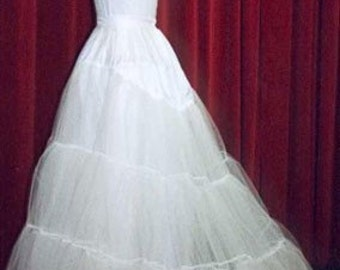3 Layer Bridal petticoat in stiff net with extended train