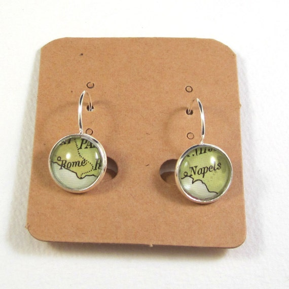 World map earring - South Europe variations