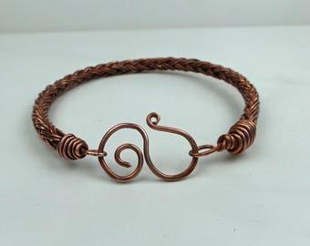 Beautiful Braided Bangle, Copper