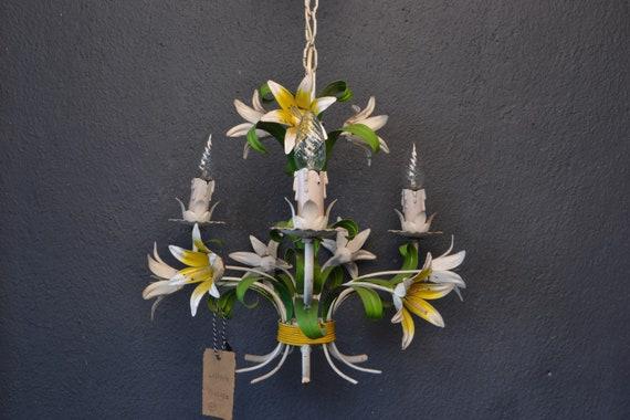 Vintage toleware chandelier