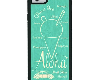 iPhone Art Case Aloha Shave Ice - Teal