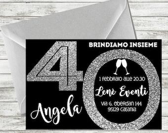 Personalized 40th Birthday Invitation, 40th birthday invitation for women, 40th invitations, 40th birthday party invitations