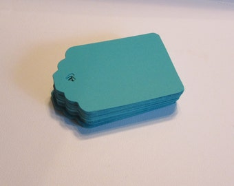 Turquoise Tags for Labeling, Scrapbooking, Gifts, Thank You, Wedding Favor or Price Tags (Set of 75)