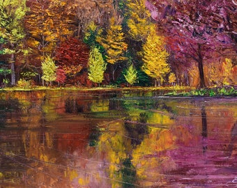 Autumn contrast's 26 X 46 cm READY to Hang
