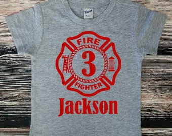 Fire Emblem Birthday Shirt, Fireman Birthday Party, Fireman Birthday Shirt