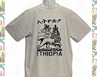 Lion of Judah[Made in ETHIOPIA]T-Shirt L  (roots reggae dub rastafari africa ethiopia jamaica haile selassie i)