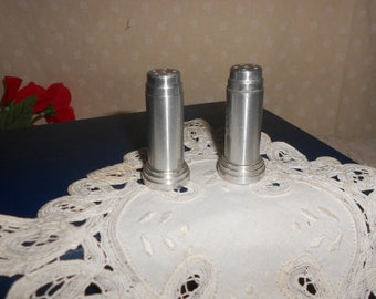 Bullet Shaped Aluminum Salt and Pepper Shakers  Schaeffer's