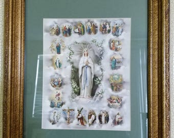 Life Stages of Jesus's Life from Birth to Death and Virgin Mary