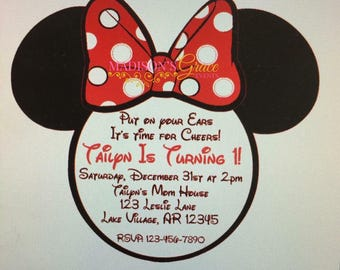 Minnie Mouse Inspired Invitation