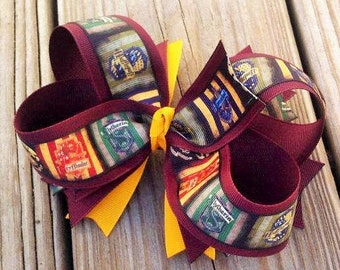 Harry Potter Hogwart's Houses Hair Bow