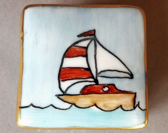 Sail Boat Tooth Fairy Box