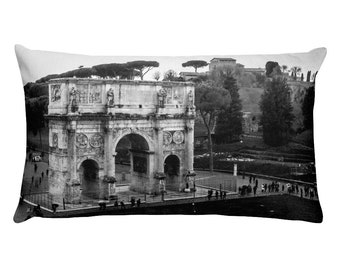 Arch of Constantine Rome Rectangular Pillow, 1:100 Limited Edition