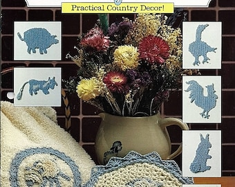 Country Home Accents to Crochet Pattern book The Needlecraft Shop 89K1