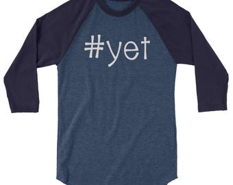 Yet Hashtag Teacher Tee 3/4 sleeve raglan shirt
