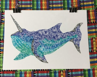A4 Horned Whale